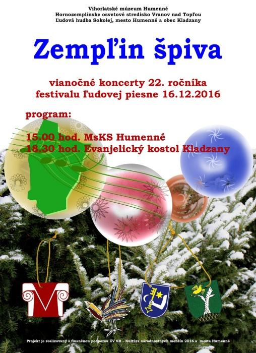 cf134fba0 Vianočný koncert festivalu Zempľin špiva ::: Aktuality a oznamy ::: Mesto  Humenné ::: www.humenne.sk