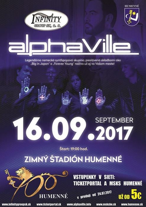 Legendárna kapela Alphaville nám zablahoželá počas osláv Pamätných dní 700.  výročia mesta     Aktuality a oznamy     Mesto Humenné     www.humenne.sk 7216cd19bfc