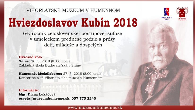 feb5eda6f Hviezdoslavov Kubín 2018 ::: Aktuality a oznamy ::: Mesto Humenné :::  www.humenne.sk