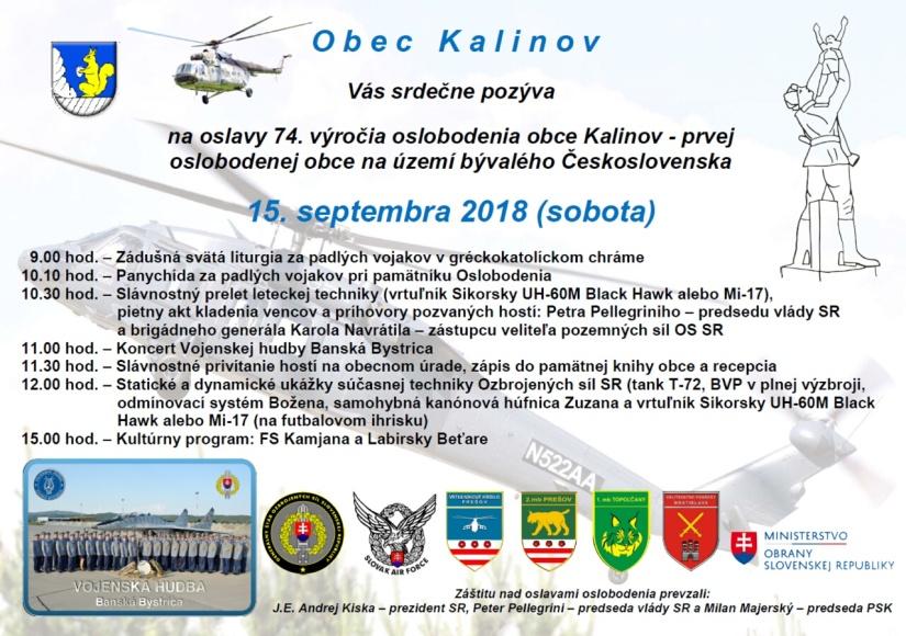 3fff96245 74. výročie oslobodenia obce Kalinov ::: Aktuality a oznamy ...