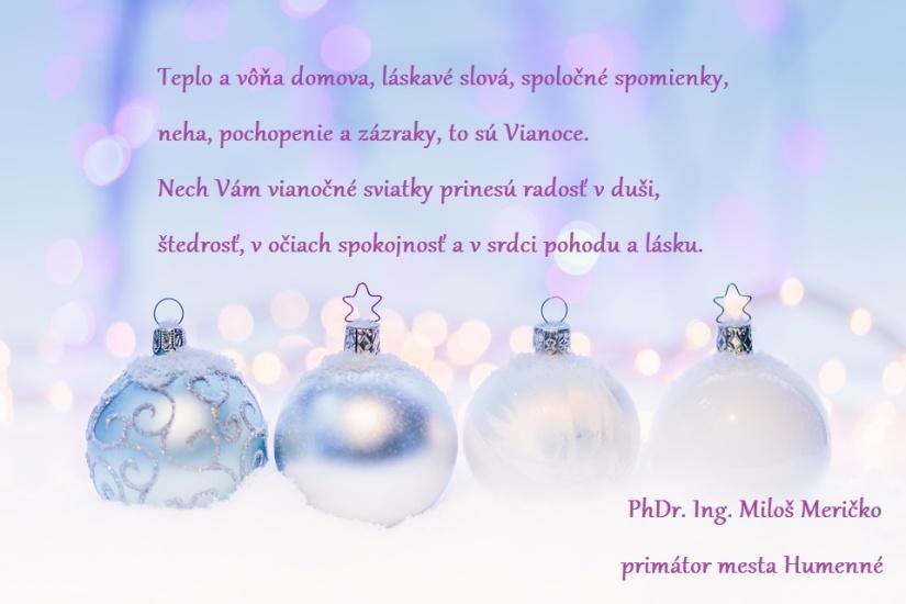 064592d24c329 Vianočný pozdrav primátora mesta Humenné pre rok 2018 ::: Aktuality a  oznamy ::: Mesto Humenné ::: www.humenne.sk