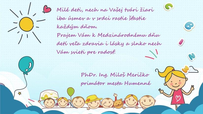 eff73a6ce Pozdrav primátora k MDD 2019 ::: Aktuality a oznamy ::: Mesto Humenné :::  www.humenne.sk