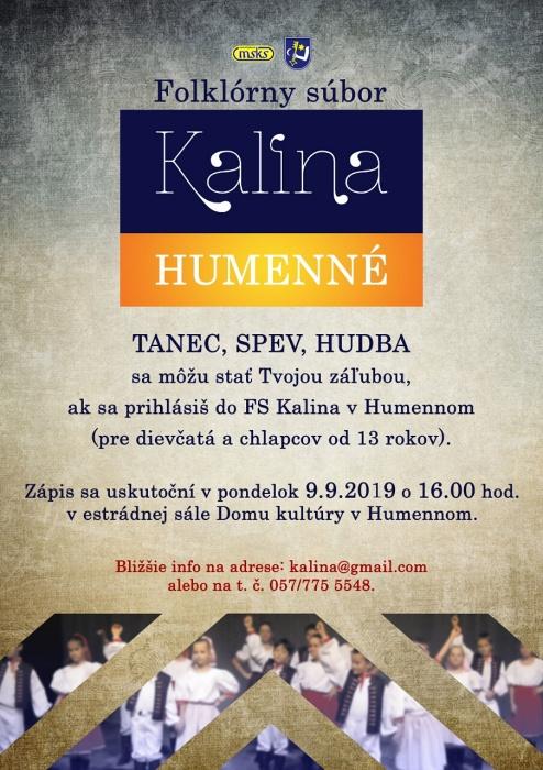 3d9d2ca70390d FS Kalina pripravuje nábor nových členov ::: Aktuality a oznamy ::: Mesto  Humenné ::: www.humenne.sk