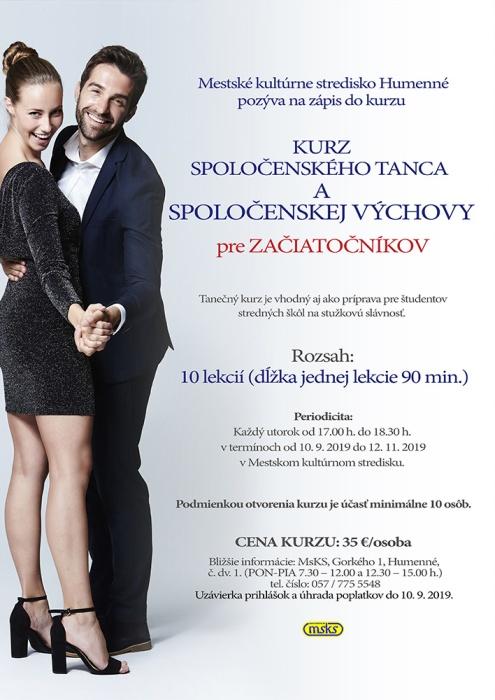 4c540cb393982 MsKS pozýva na kurzy spoločenského tanca a spoločenskej výchovy :::  Aktuality a oznamy ::: Mesto Humenné ::: www.humenne.sk